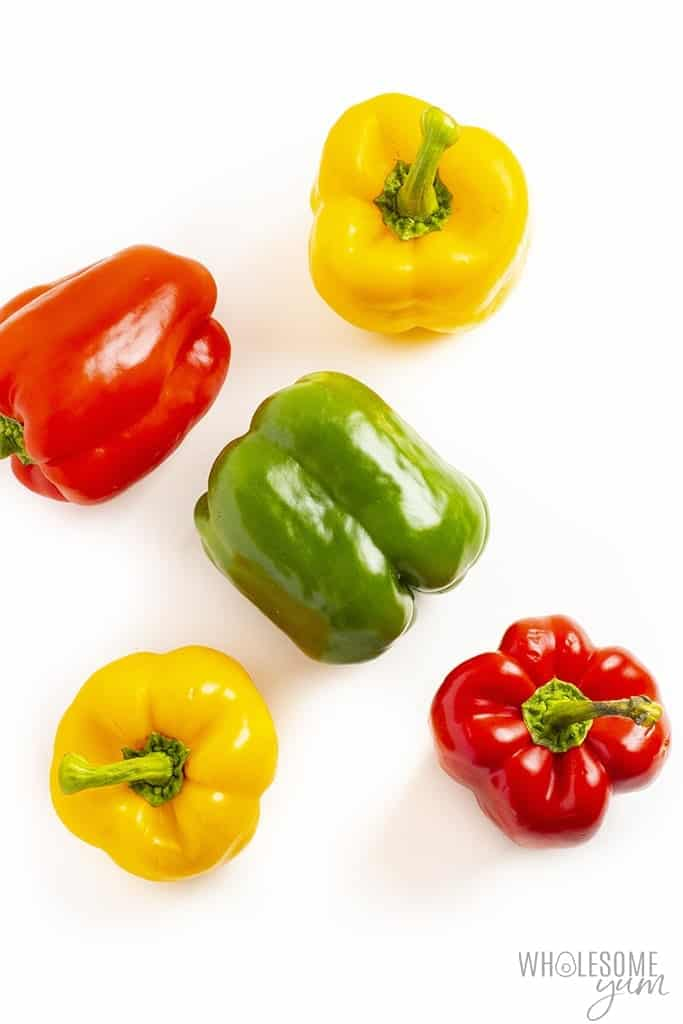 Are Bell Peppers Keto? - Scattered keto bell peppers