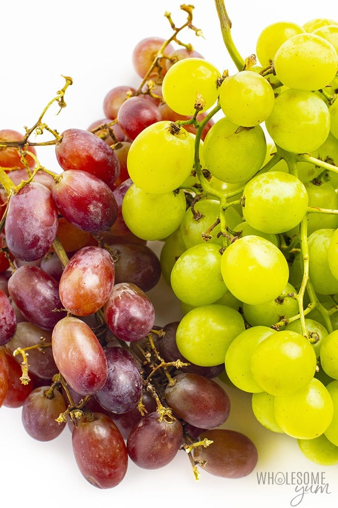 How many carbs in grapes? These red and green grapes have too many carbs for a keto lifestyle.