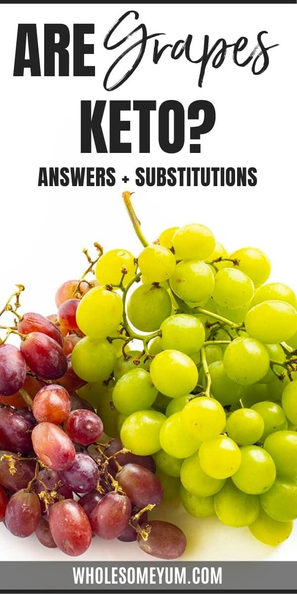 Are grapes keto? How many carbs in grapes? Learn the answers here, including easy keto grape substitutes.