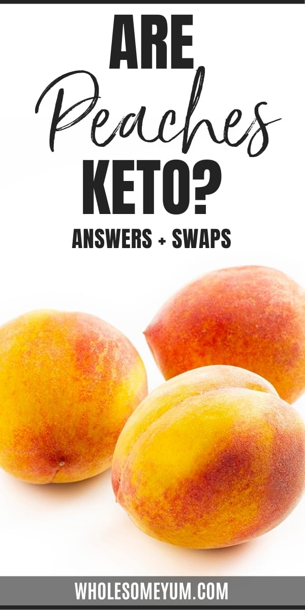 Are peaches keto? And, how many carbs in peaches? Get the full guide here, including peach carbs and lower carb substitutes.