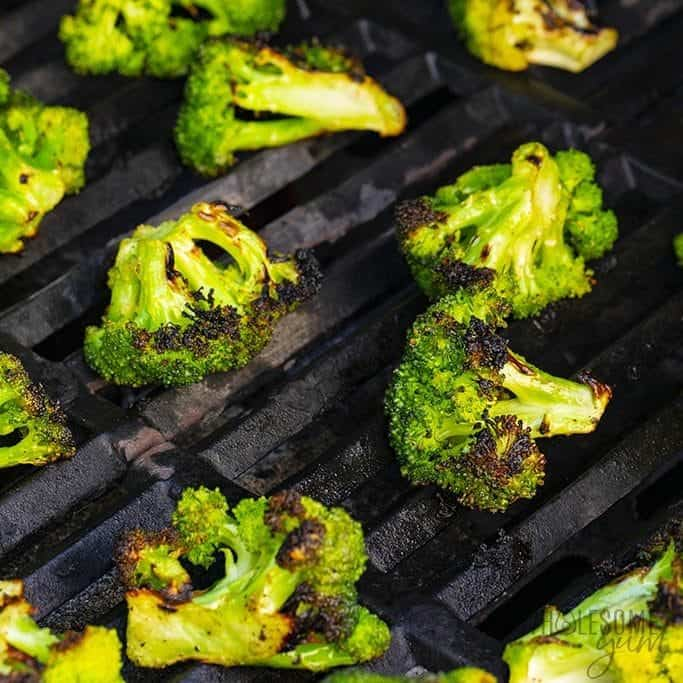 Broccoli on the grill