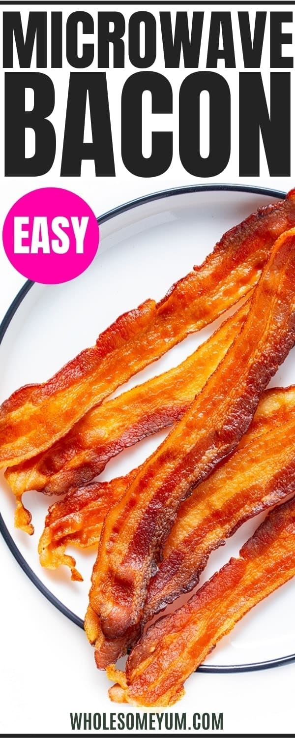 How to microwave bacon - pin