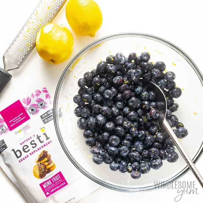 Blueberry filling for low carb blueberry cobbler