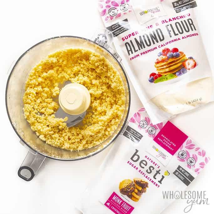 Cobbler topping for almond flour blueberry cobbler