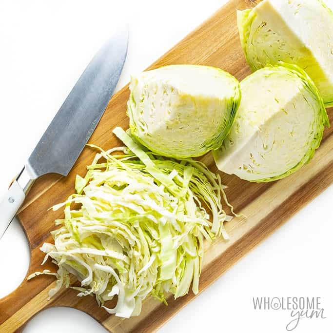 Chopped cabbage for frying