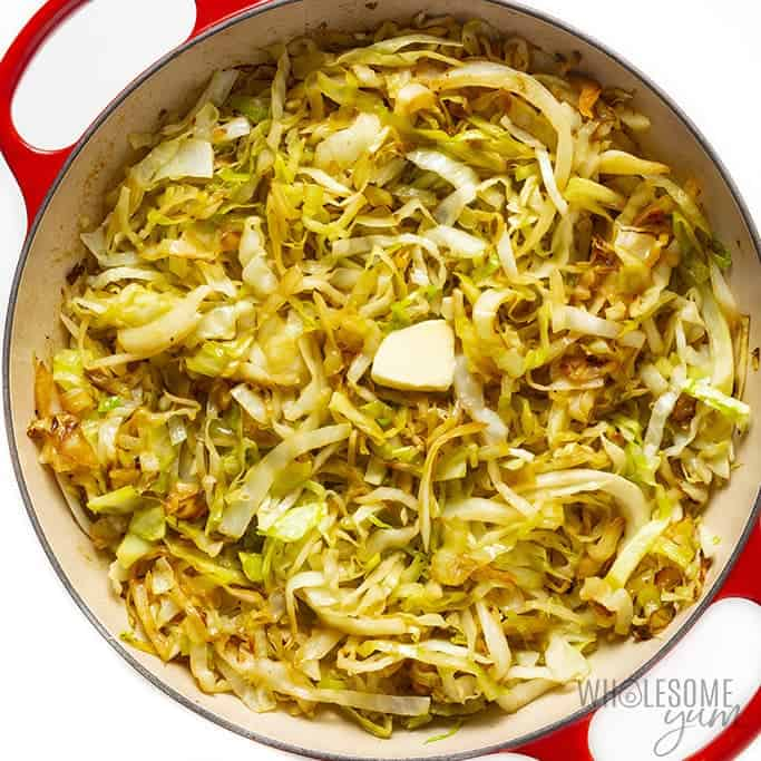 Sauteed cabbage with butter added