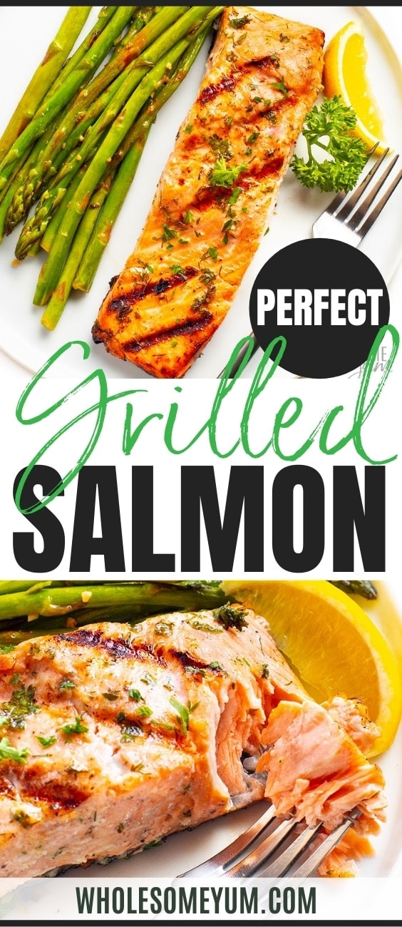 Easy grilled salmon recipe pin