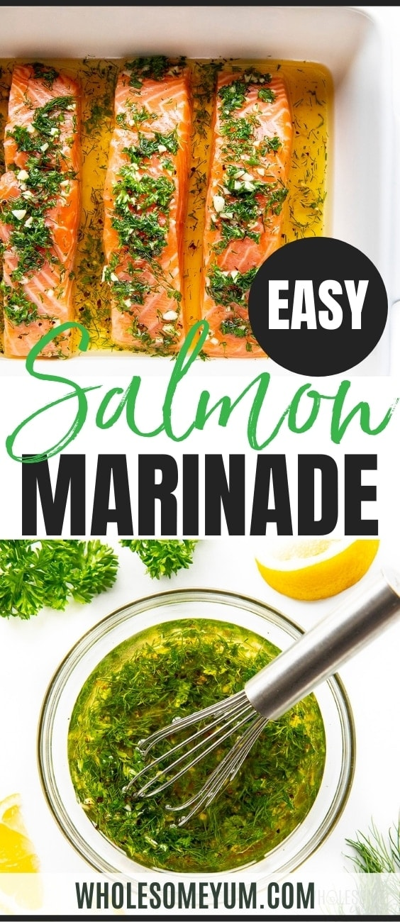 Easy salmon marinade recipe pin