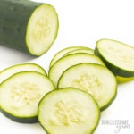 Are cucumbers keto, or are cucumber carbs too high? This fresh sliced cucumber is keto and low in carbs.