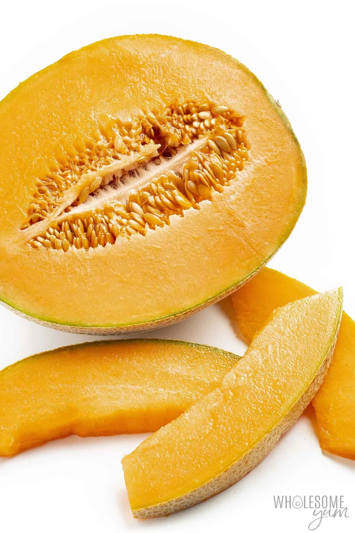 Are carbs in cantaloupe high? This sliced cantaloupe is too high in carbs to be keto friendly.