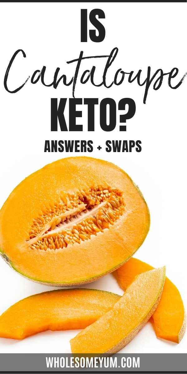 Is cantaloupe keto friendly, or are carbs in cantaloupe too high? Get all the answers here, complete with low carb substitutes.
