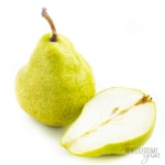 Are pears keto friendly? This whole and halved pear is not keto.