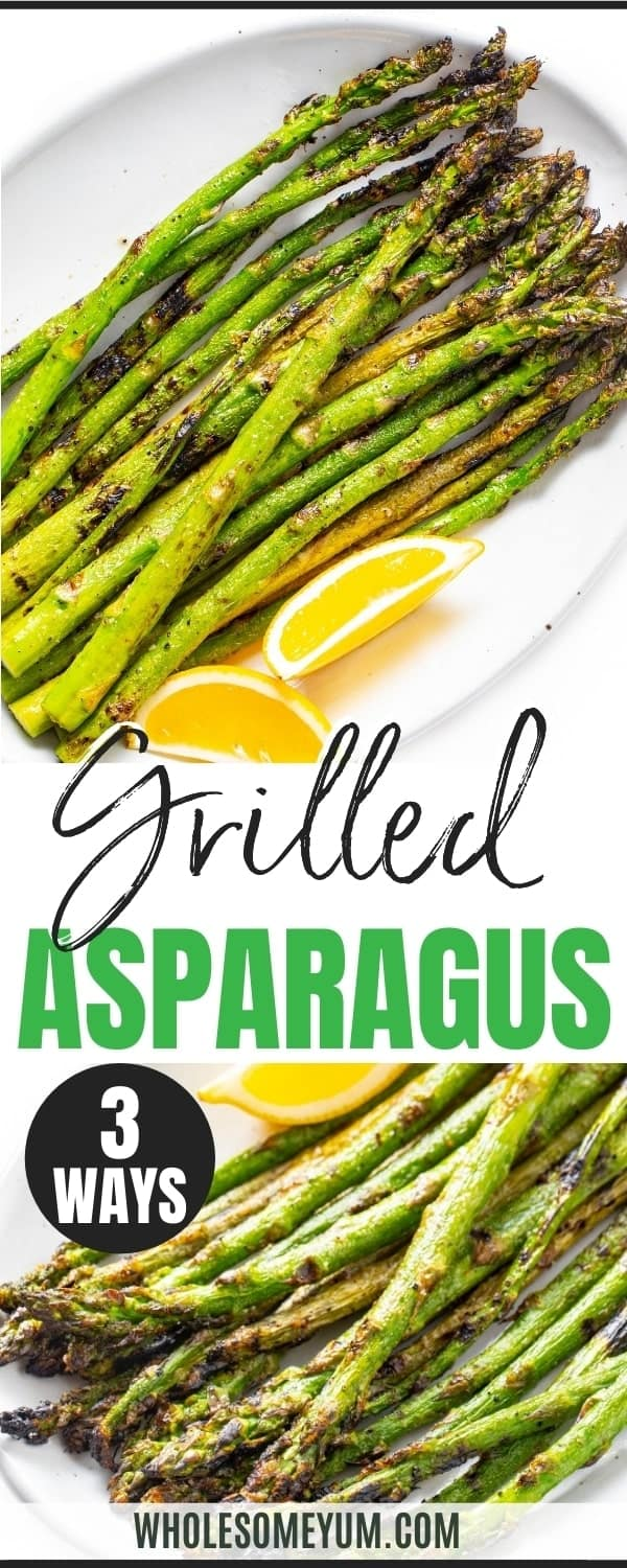 How to cook asparagus on the grill - recipe pin