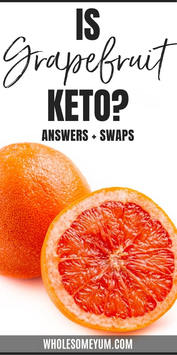 Is grapefruit keto, or are carbs in grapefruit too high? Learn all the answers here, plus keto friendly grapefruit swaps.