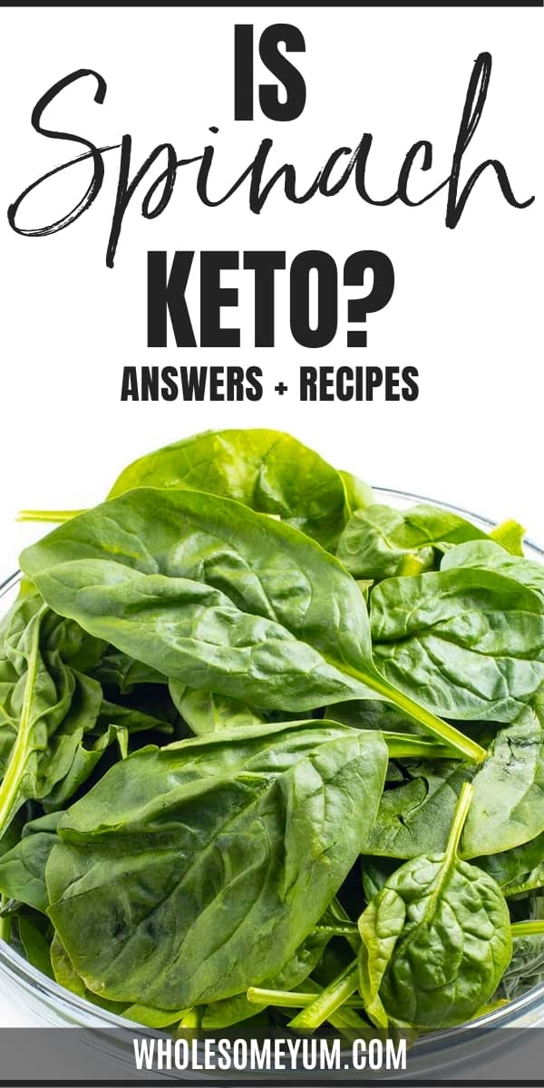Is spinach keto? How many carbs in spinach? Get the answers here, plus delicious low carb ways to use it.