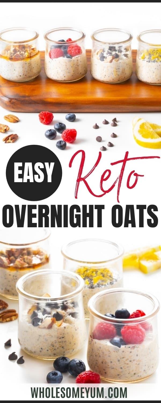 Keto overnight oats recipe pin