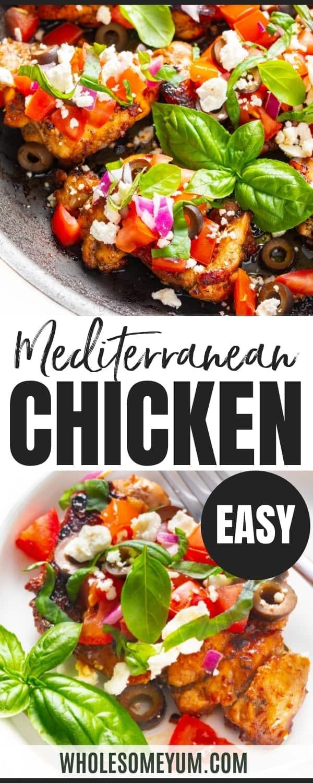 Mediterranean chicken recipe pin