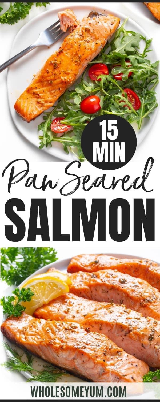 Pan fried salmon recipe pin