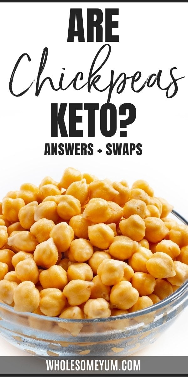 Are chickpeas keto? Just how high are carbs in chickpeas? Get the answers here, including easy, lower carb swaps.