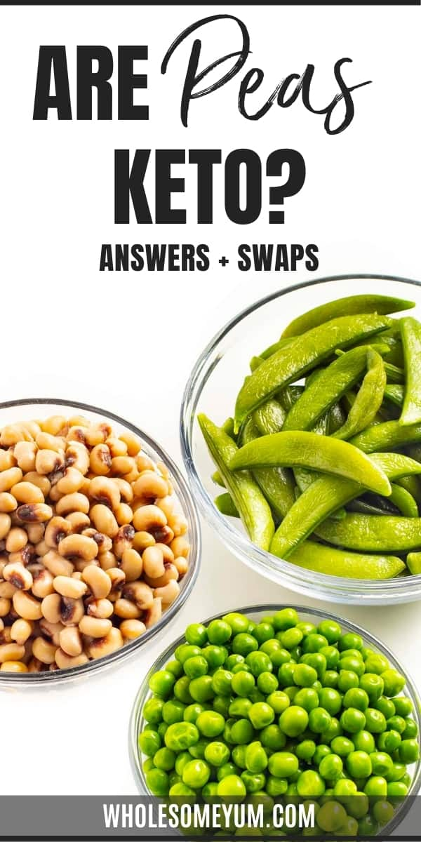 Are peas keto, or are carbs in peas too high? Learn the answers here, including carb counts for several varieties of peas!