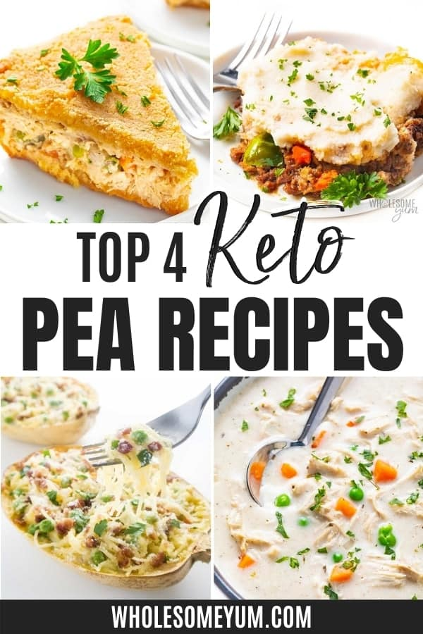 Are peas keto? Learn how to keep carbs in peas low with these easy keto pea recipes!