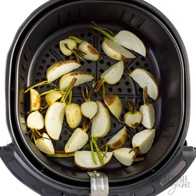 Tokyo turnip in air fryer basket
