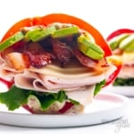 Bell pepper sandwich recipe on a plate