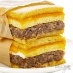 Wrapped keto breakfast sandwich