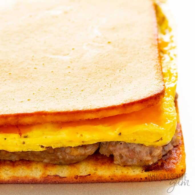 Low carb meal prep breakfast sandwiches after baking