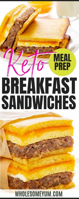 Keto breakfast meal prep recipe pin