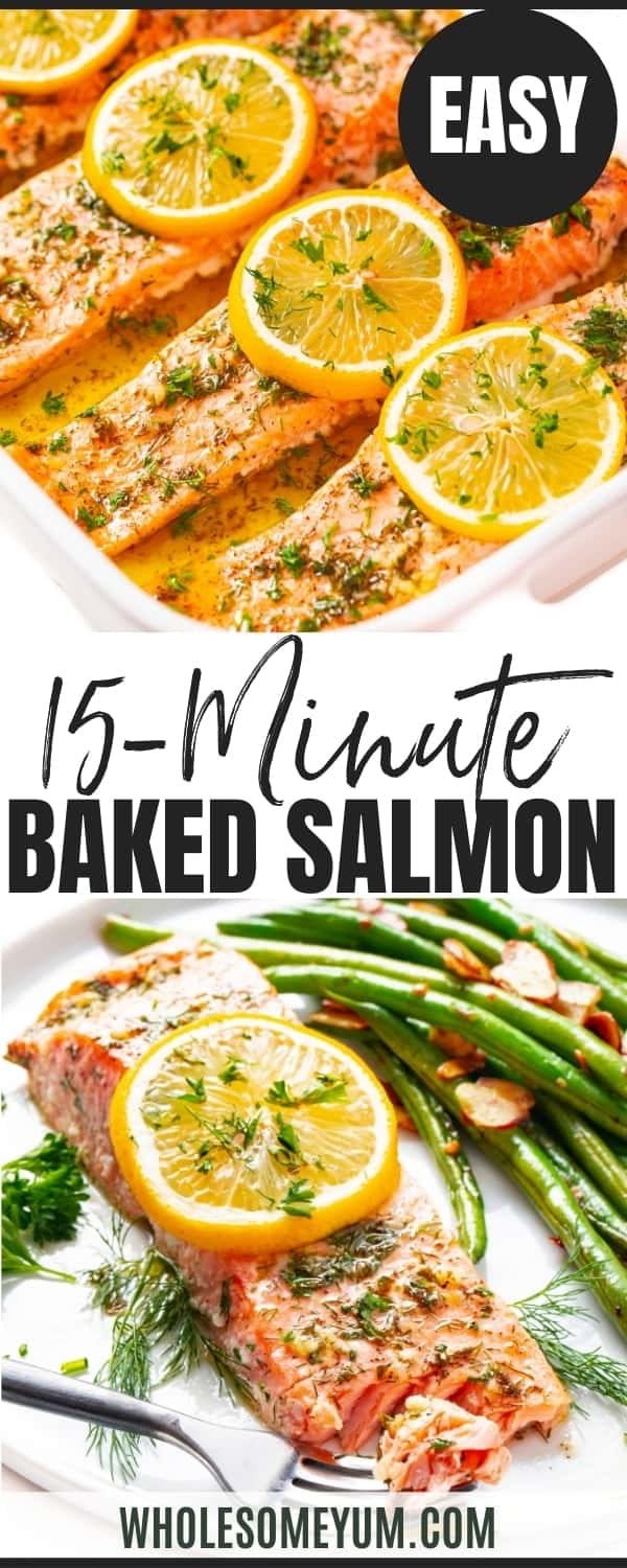 How to cook salmon in the oven - pinterest