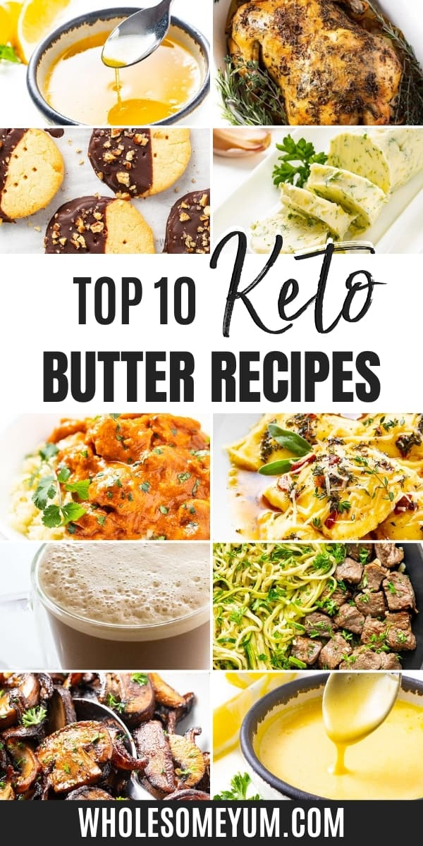 Is butter keto? And how many carbs in butter? Learn in this easy guide, complete with mouthwatering low carb butter recipes.