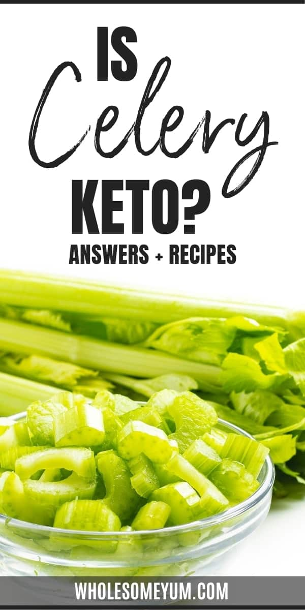 How high are carbs in celery? Is celery keto? Get all the answers here, complete with delicious low carb ways to use it.