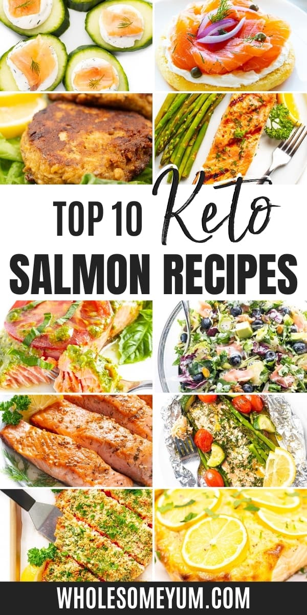 How low are carbs in salmon? Is salmon keto? Learn the answers here, complete with delicious low carb salmon recipes.