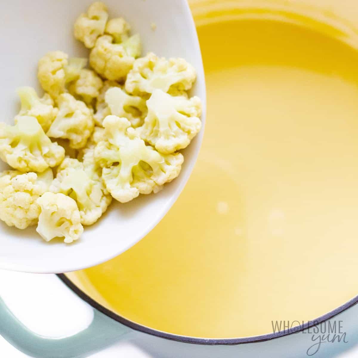 Putting cauliflower back into soup