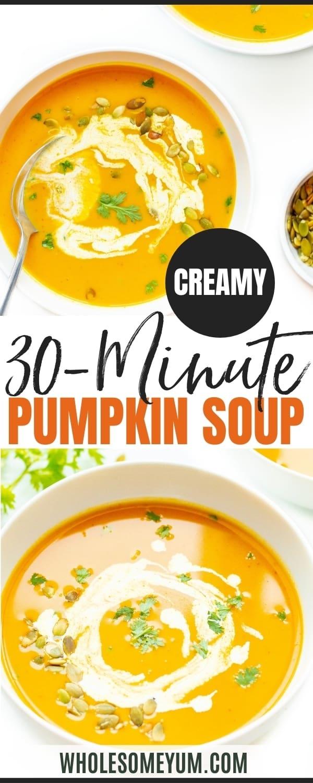 Pumpkin soup recipe pin