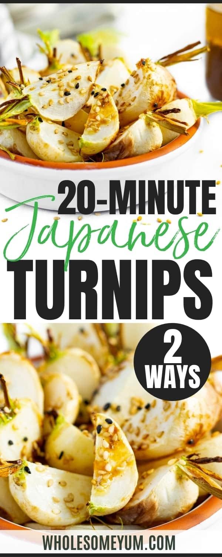 Hakurei turnips recipe pin