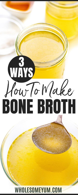 How to make bone broth - pin