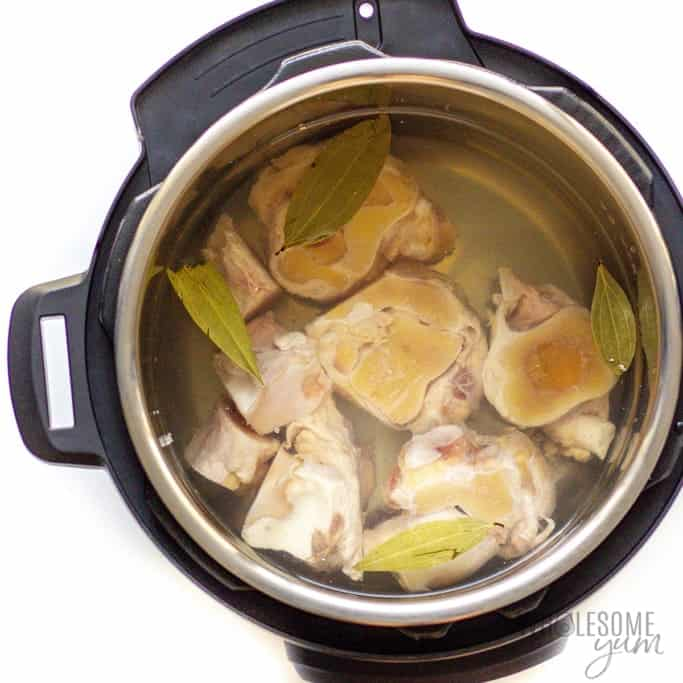 Ingredients for how to make bone broth in Instant Pot