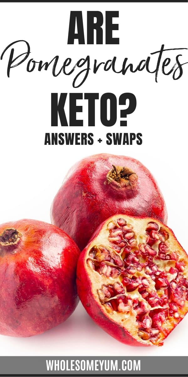 Are pomegranates keto, or are pomegranate carbs too high? Learn the full story here, including way to enjoy the taste of pomegranates on keto.