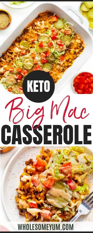 Big mac casserole recipe pin