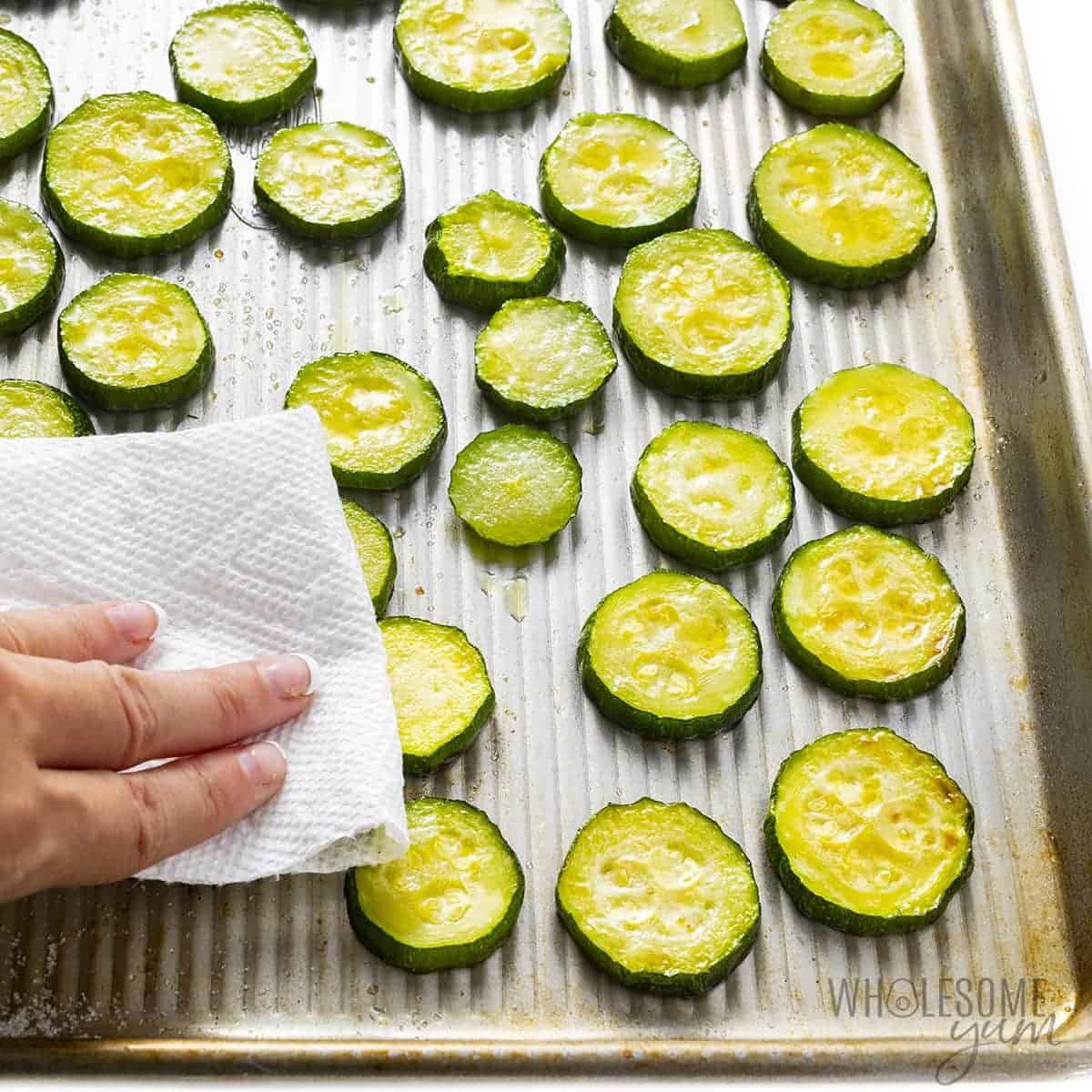 Pat zucchini dry