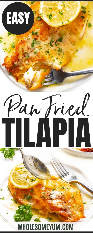 Pan seared tilapia recipe pin