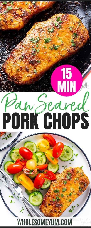 Pan fried pork chops recipe pin