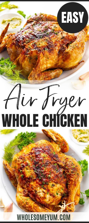 Air fryer chicken recipe pin