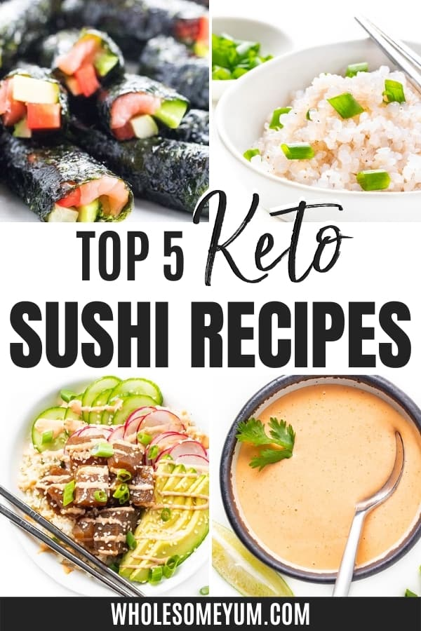 Is sushi keto? And how many carbs in sushi? Get all your low carb sushi questions answered here, complete with easy recipes.